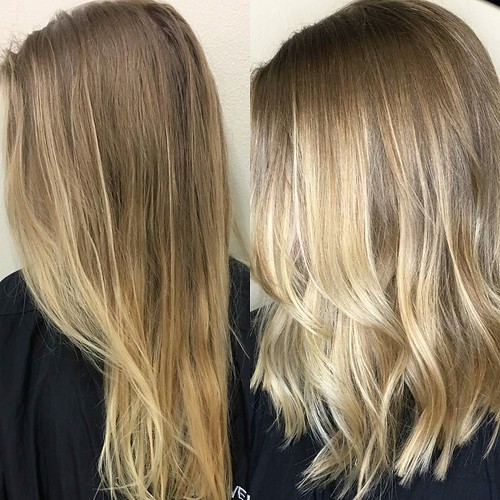 #beforeandafter #handpainted by Lydia @lydia_meeks Call for your appointment!! 901.590.4380 #IAMGOLDWELL #haircolor #hairpainting #hairstyle #hair #style #beauty #theblondes #blonde #blondie #memphis #memphisstyle #choose901 #memphishairsalon #memphishair