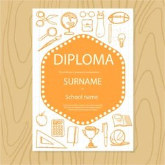 free vector Student certificate Diploma Design templates