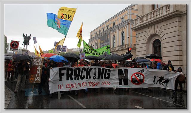 4 Manifestación contra el fracking en Burgos