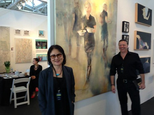 Sandra Lee and Artist Gregg Chadwick at artMRKT San Francisco by GreggChadwick