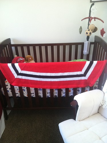 Blackhawks blanket