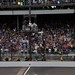 Tony Kanaan crosses the bricks to win his first Indy 500