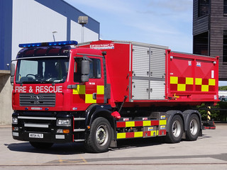 South Yorkshire Fire & Rescue Service MAN TG-M High Volume Pumping Unit