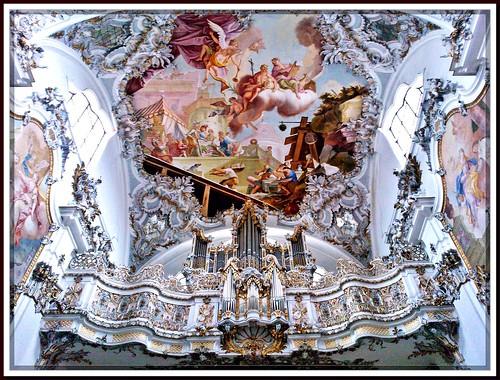 Orgel-Empore, Welfenmünster,  Steingaden