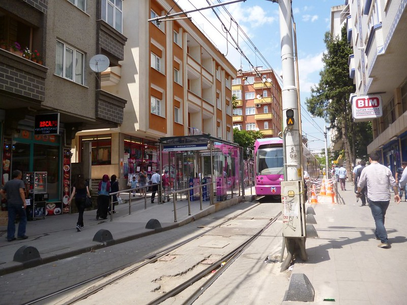 West end of Istanbul tram line