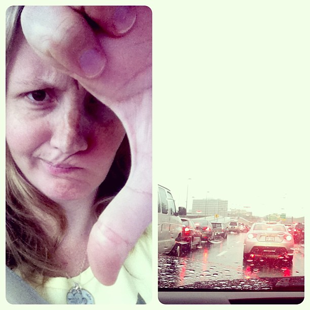Washington DC, this is my thoughts on your rainy day traffic! #thumbsdown