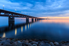 Sunset at Øresunds/Öresunds Bridge, Malmö Sweden
