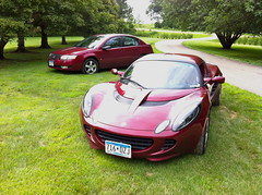 2013-7-13  Lotus Elise and Saturn Ion at Gurney reunion