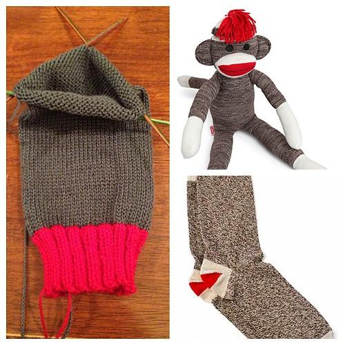 My sock knitting is a bit #sockmonkey inspired....