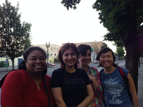 8:36pm: was out at Nicholas with these amazing women (Rose, Rupa, Julia, and Chiu-Ki), in town for #oscon!