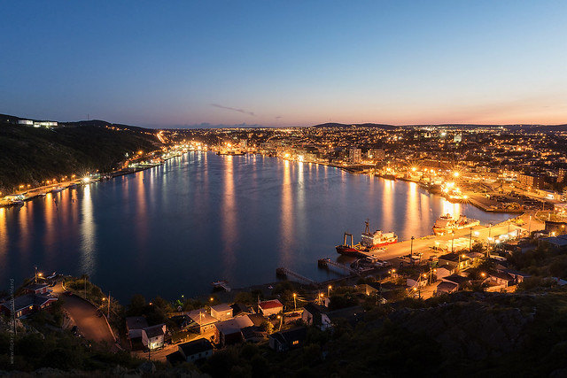 Twilight above the harbour of St. John's