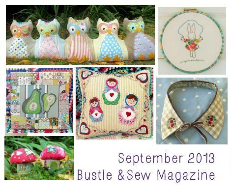 Bustle & Sew Magazine Sept 2013