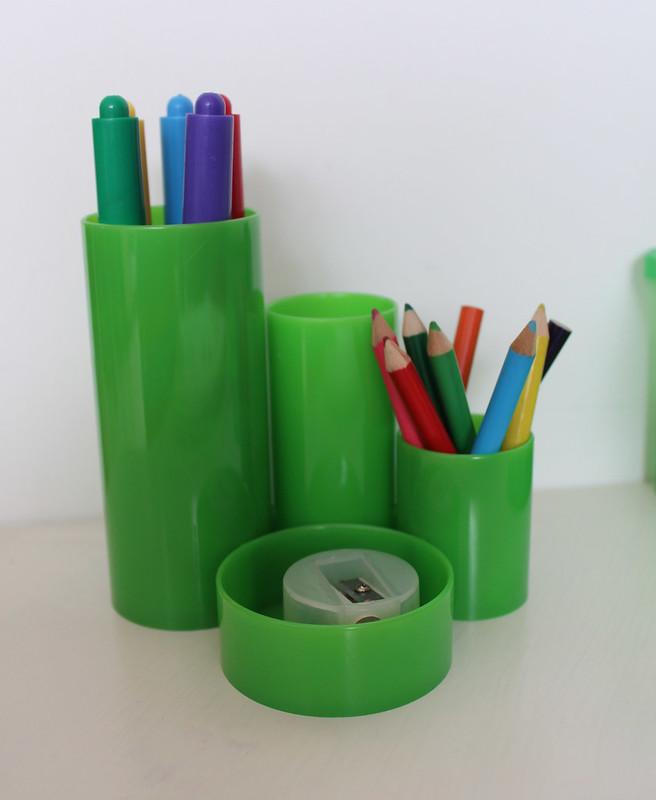 Retro pennenhouder groen