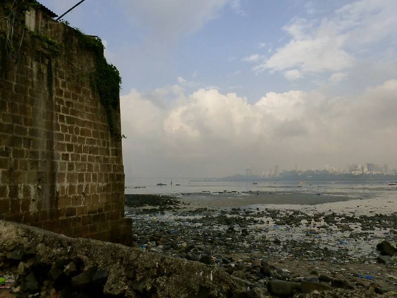 Mahim Fort - view of Bandra across Mahim creek