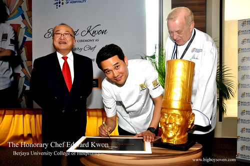 The Honorary Chef Edward Kwon of Berjaya University College of Hospitality 2