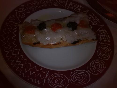 Zaragoza | La Loberica | Tosta de bacalao ahumado, foto fallida