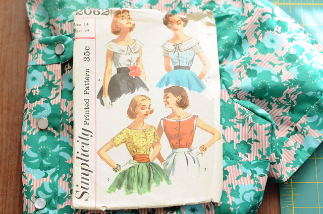 simplicity 2062 / 1957 sewing pattern