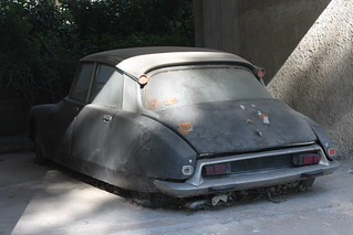 Battleship- Abandoned 1970s Citroen DS sedan