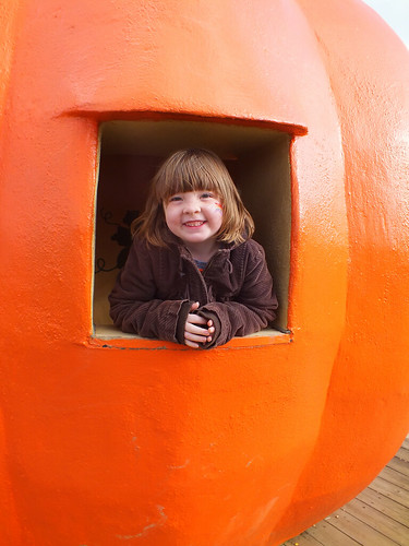 Lucy in the pumpkin house