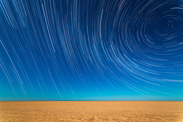 StarTrails On The Beach