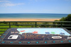 Omaha Beach in Normandy, France