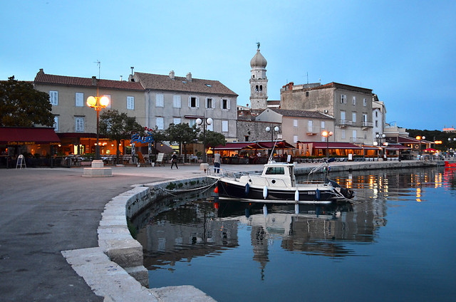 Harbour at dusk, Krk, Croatia