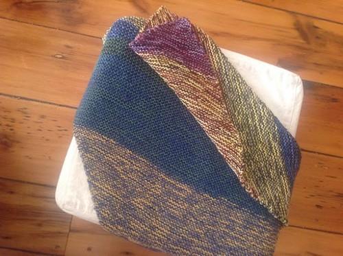 biased garter blanket by gradschoolknitter