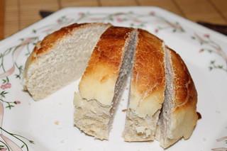 Dutch Crunch Roll - big enough to slice like a loaf of bread!