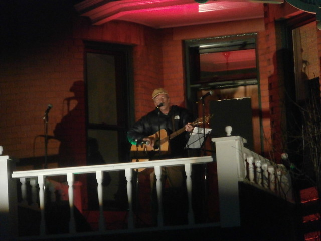 Dan Sheridan entertains at Sardy House tree lighting