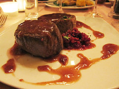 deer filet with potato pancake