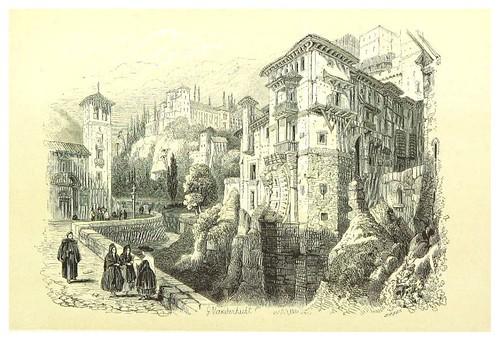 017-Puente morisco sobre el Darro-La Spagna, opera storica, artistica, pittoresca e monumentale..1850-51- British Library