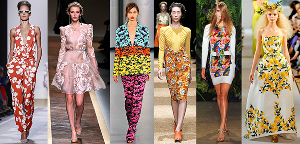 catwalk, something fashion style guide, trends 2014 I don't care, style tips, floral print trends