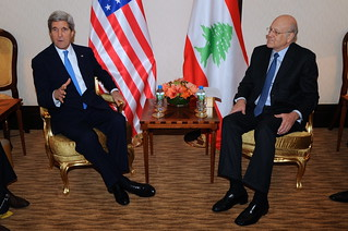 Secretary Kerry Meets With Lebanese Prime Minister Mikati