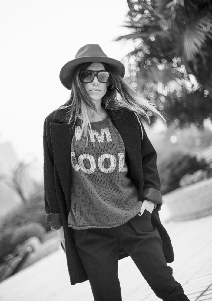 street style barbara crespo i am cool red sweater the corner shop fashion blogger outfit