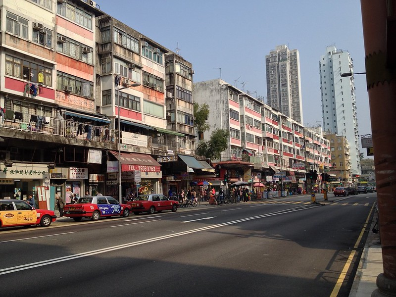 Typical street in Tai Po District
