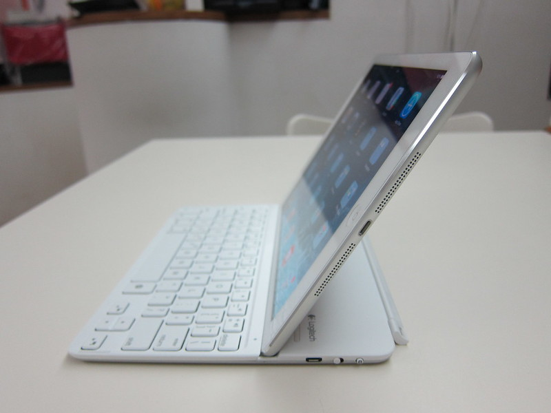 Ultrathin Keyboard Cover - Holding iPad (Side)