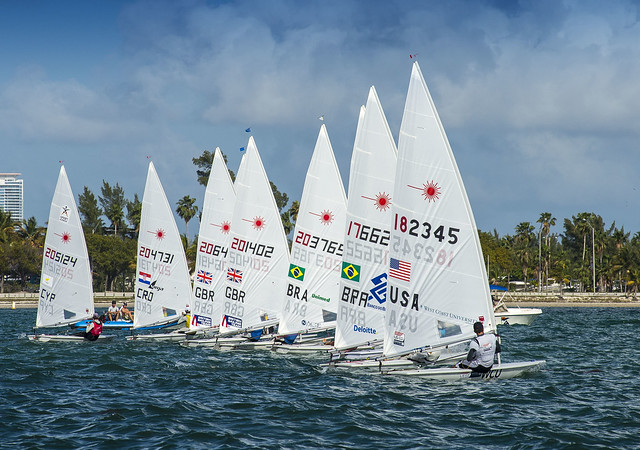 Sailing World Cup 2014, Miami: Medal Race Laser Start