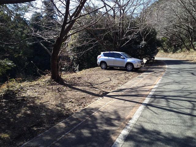 多度山 愛宕神社手前の駐車スペース