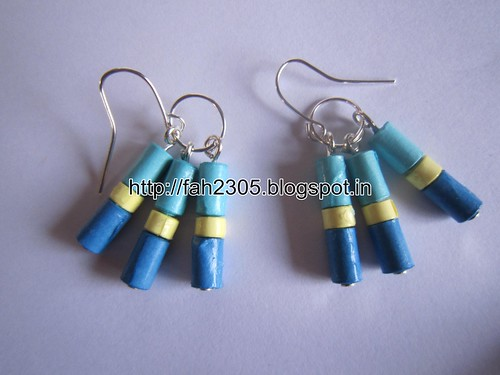 Handmade Jewelry - Paper Beads Earrings (11) by fah2305