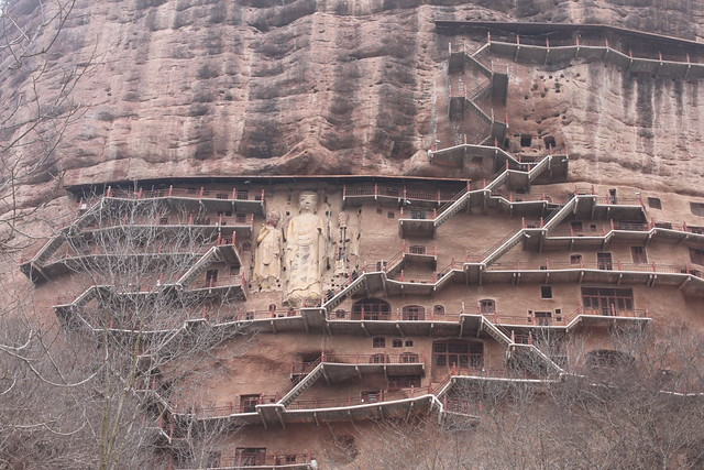 Maijishan Grottoes,Tianshui,Gansu,China,2014,中国,甘肃省,天水市,麦积山石窟   IMG_8015