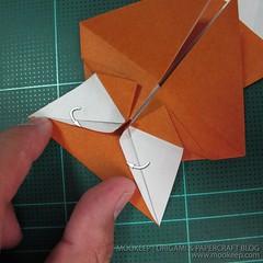 วิธีพับกระดาษเป็นรูปหมี (Origami Bear) 010