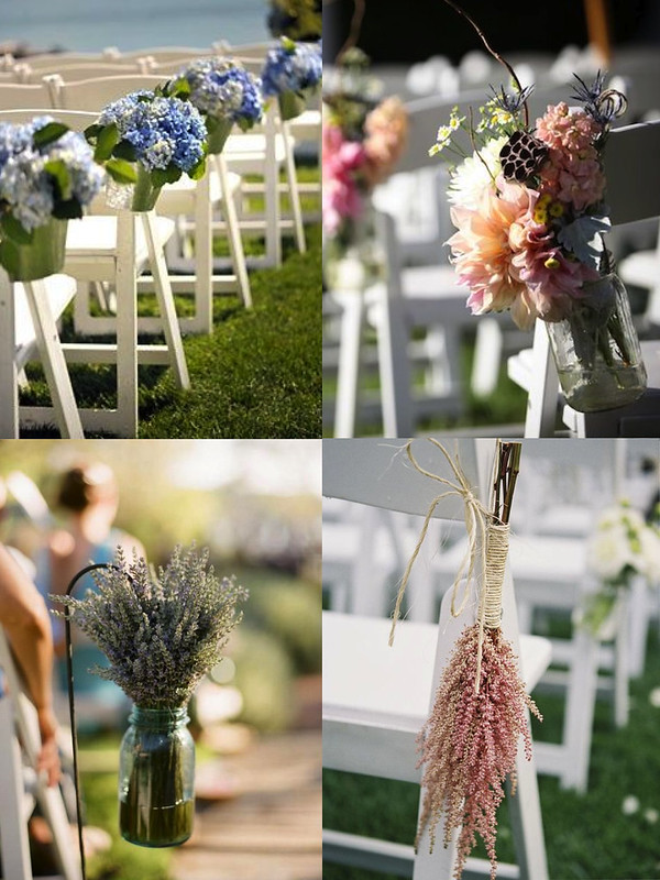 Decoración bodas: flores ceremonia