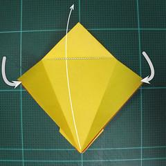 วิธีพับกระดาษเป็นรูปนกยูง (Origami Peacock - ピーコックの折り紙) 019