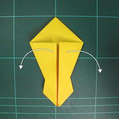 วิธีพับกระดาษเป็นรูปนกยูง (Origami Peacock - ピーコックの折り紙) 018