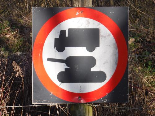 Imber Village, Traffic Sign