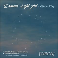 @ SaNaRae for April ~ [CIRCA] - Dreamer Light Art - Glitter Ring