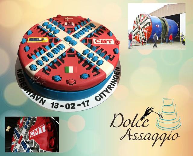 Tunnel Boring Machine Cake by Lizabeth Leach of Dolce Assaggio