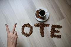 Peace + Coffee + Vote (free CC usage with credit link to http://livewildphotos.com/)