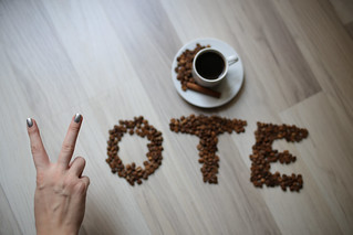 Peace + Coffee + Vote (free CC usage with credit link to http://livewildphotos.com/) | by liveoncelivewild