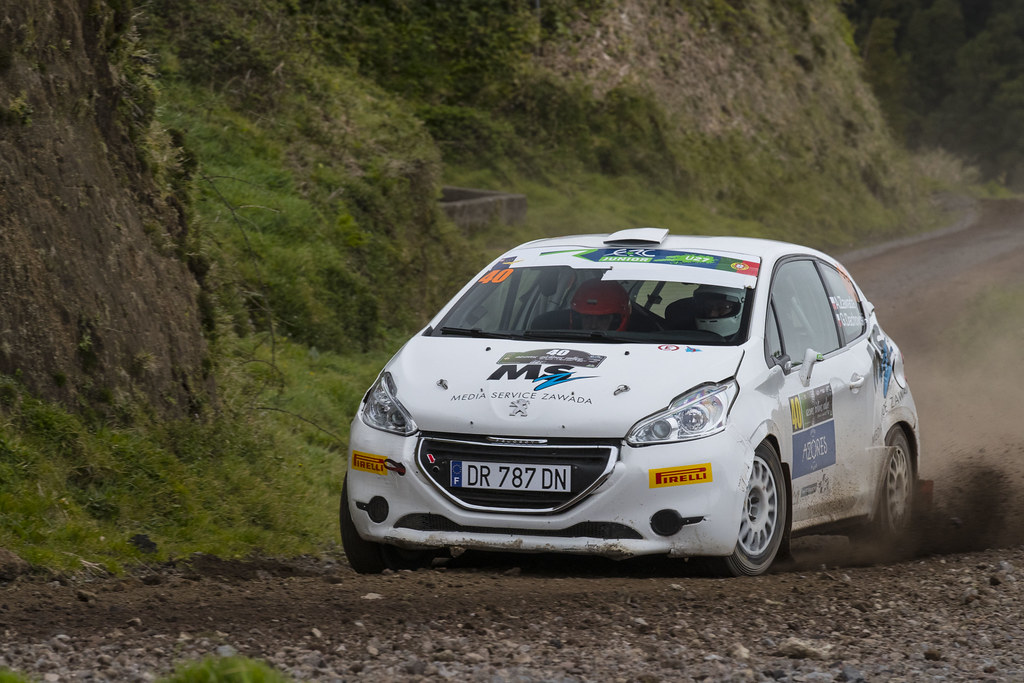 40 ZAWADA Alexander  DACHOWSKI Grzegorz Peugeot 208 R2 Action during the 2017 European Rally Championship ERC Azores rally,  from March 30  to April 1, at Ponta Delgada Portugal - Photo Gregory Lenormand / DPPI